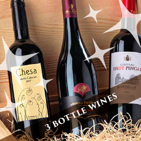 3 bottles wine gifts
